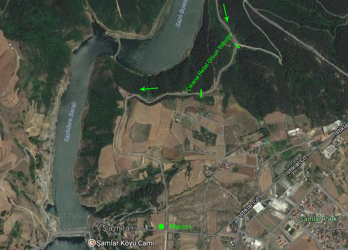 MTB Turu Şamlar Civarı Haritası